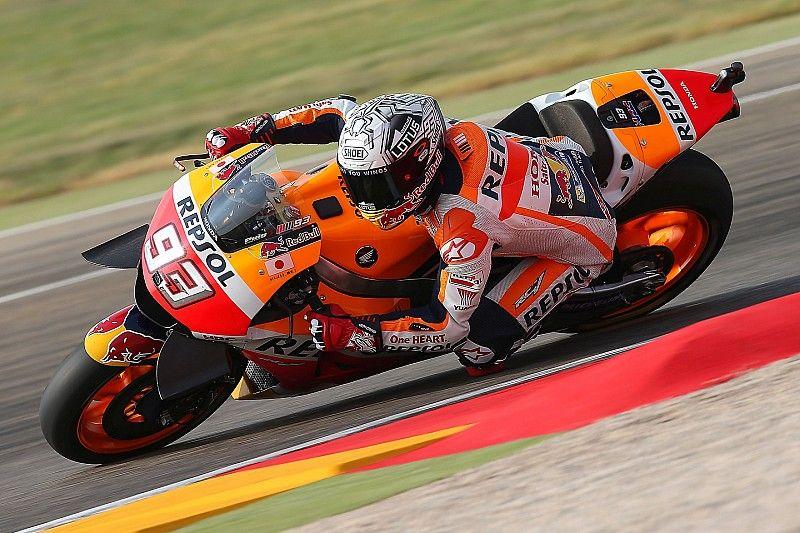 Aragon MotoGP: Marquez leads warm-up, Lorenzo crashes