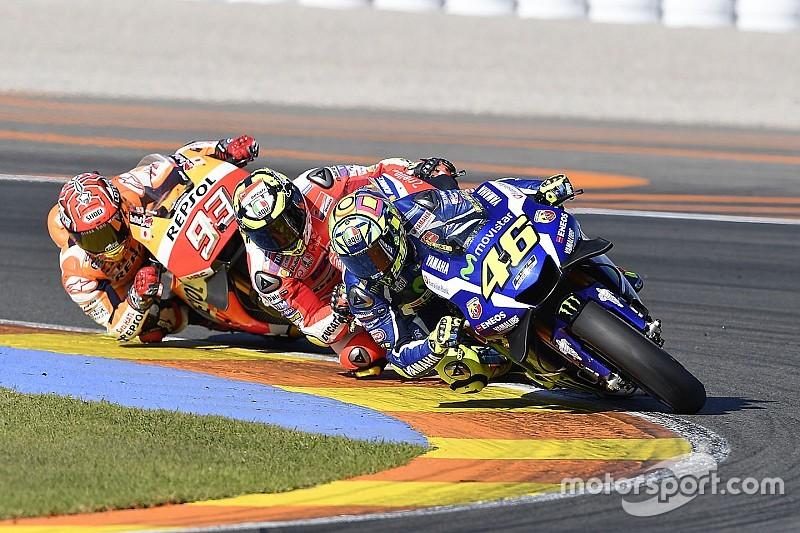 【MotoGPバレンシアGP】タイヤに苦しんだロッシ。「ハードでレースをしたかった」