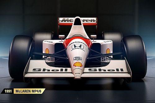In beeld: De historische Formule 1-auto's in de game F1 2017