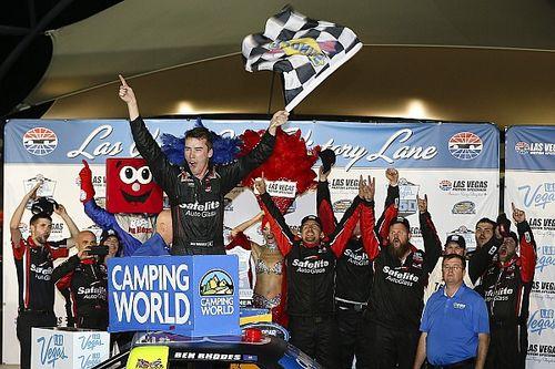 Rhodes conquista primeira vitória na NASCAR, em Las Vegas