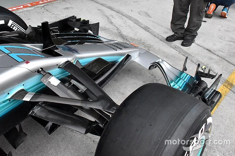 Japánban már Hamilton is használja a Mercedes új aerocsomagját