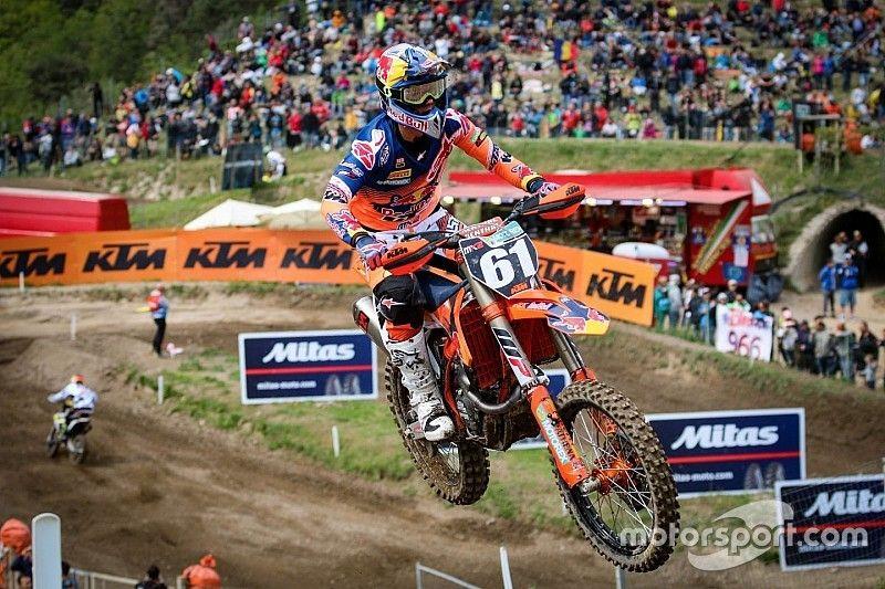 Jorge Prado gana su primera carrera en el Mundial de MX2
