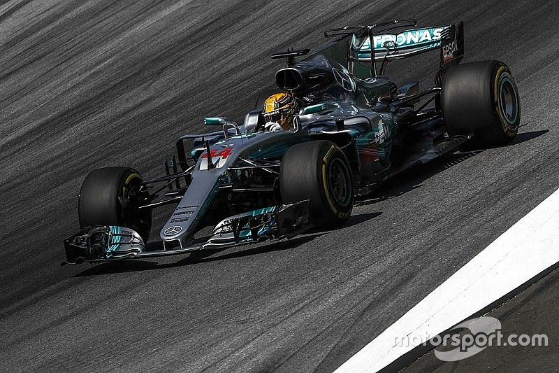 """Mercedes has strong baseline """"for first time"""" - Hamilton"""