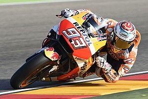 Aragon MotoGP: Marquez tops shortened warm-up