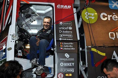 Albert Llovera se cae del Dakar 2019