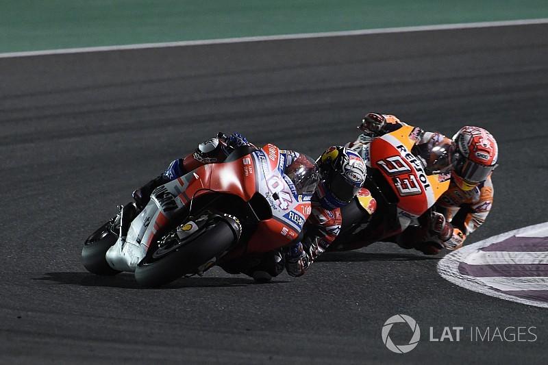 """Dovizioso está """"preocupado"""" com corrida de Márquez no Catar"""
