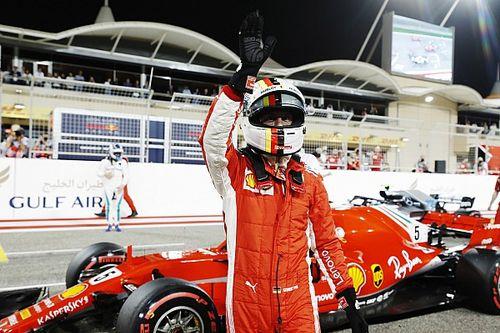 GP Bahrain: Vettel pole di GP ke-200, Verstappen kecelakaan