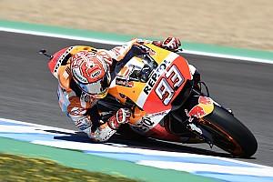 MotoGP Practice report Jerez MotoGP: Marquez tops warm-up, but crashes again