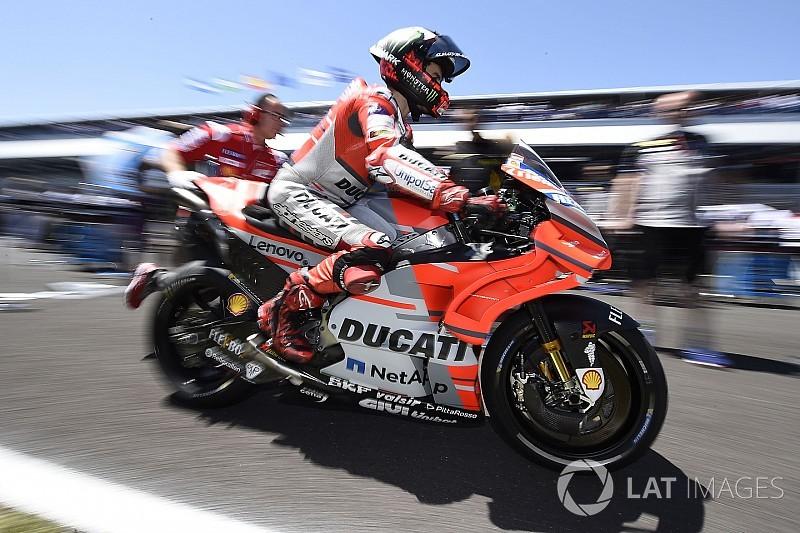 Lorenzo probó un nuevo chasis en el test de Mugello; las Honda, vuelan