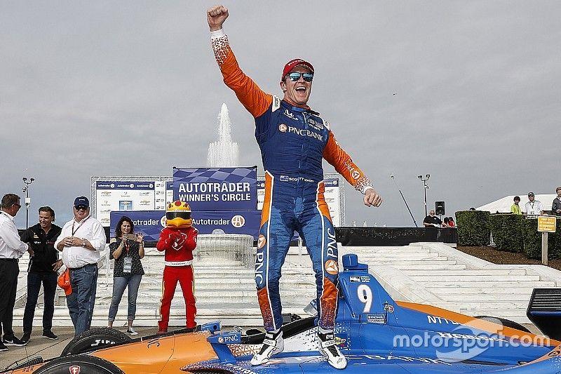 إندي كار: ديكسون يتفوق على سائقي بينسكي ليحرز الفوز بسباق ديترويت الأول