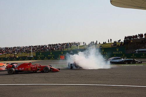 Hamilton feared he would crash into Vettel/Verstappen