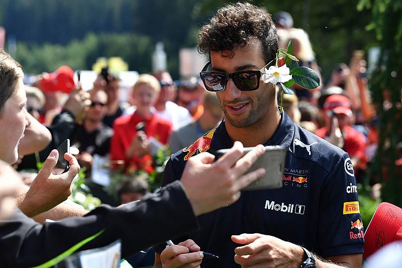 Így köszöntötték a születésnapos Ricciardót a Red Bull Ringen