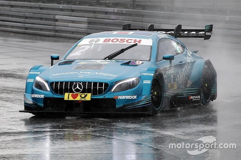 Misano, Libere 2: poker Mercedes sotto la pioggia, Zanardi avvicina i rivali