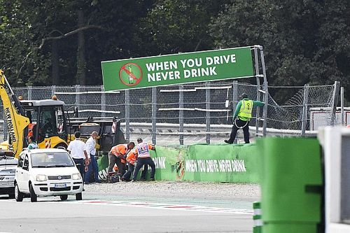 Monza sausage kerb removed after huge F3 crash