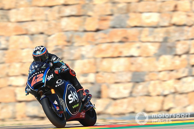 Moto2 Aragon: Bagnaia aan kop in warm-up, Bendsneyder 23ste