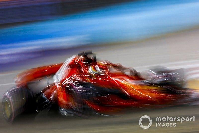 """Vettel, tras tocar el muro: """"No es lo ideal, pero hubo buenas sensaciones"""""""