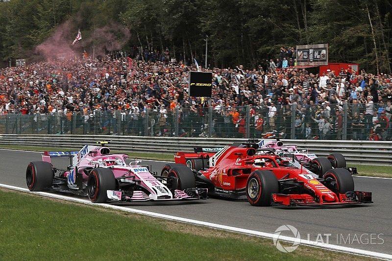 Ocon cree que estuvo a un metro de liderar el GP de Bélgica