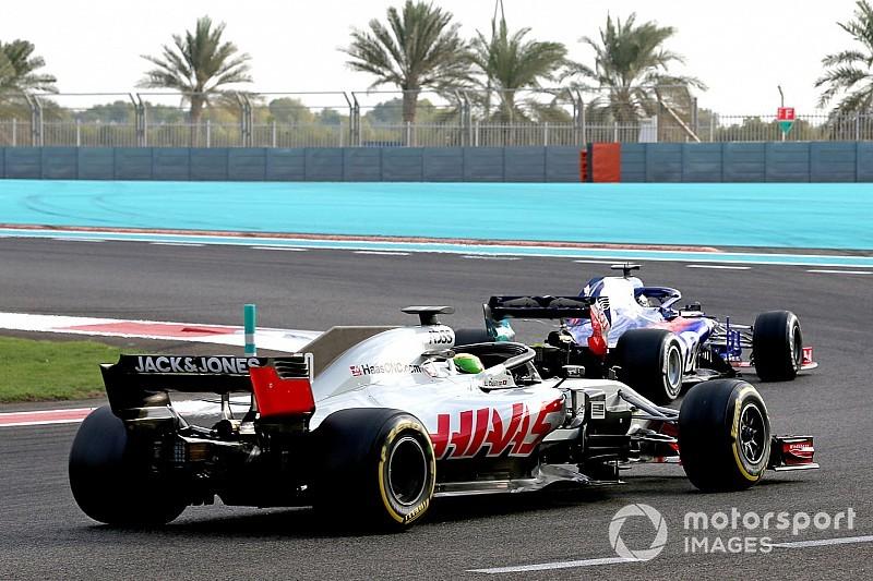 La parrilla virtual de F1 con los tiempos de los test de Pirelli en Abu Dhabi