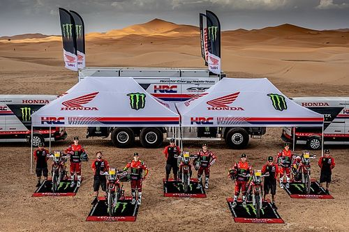 Una mañana de 'shakedown' con el equipo Honda para el Dakar 2019
