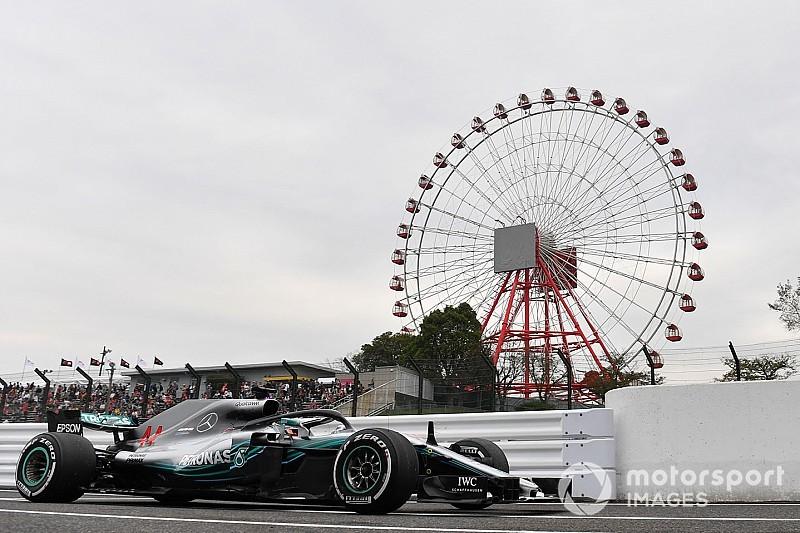 Hamilton lidera primeiro dia de treinos livres do GP do Japão