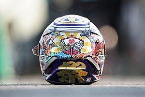 Marc Márquez presenta su casco para el GP de Japón