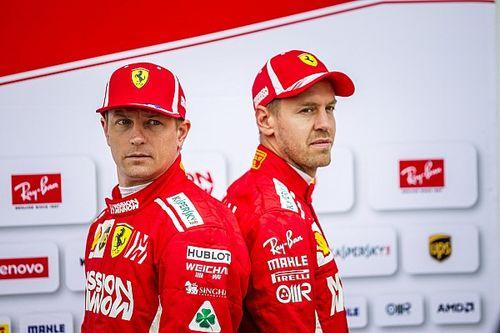 Räikkönen az Alfa Romeóval is Vettel nyomában