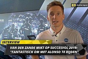 """Van der Zande mikt op succesvol 2019: """"Fantastisch om met Alonso te rijden"""""""