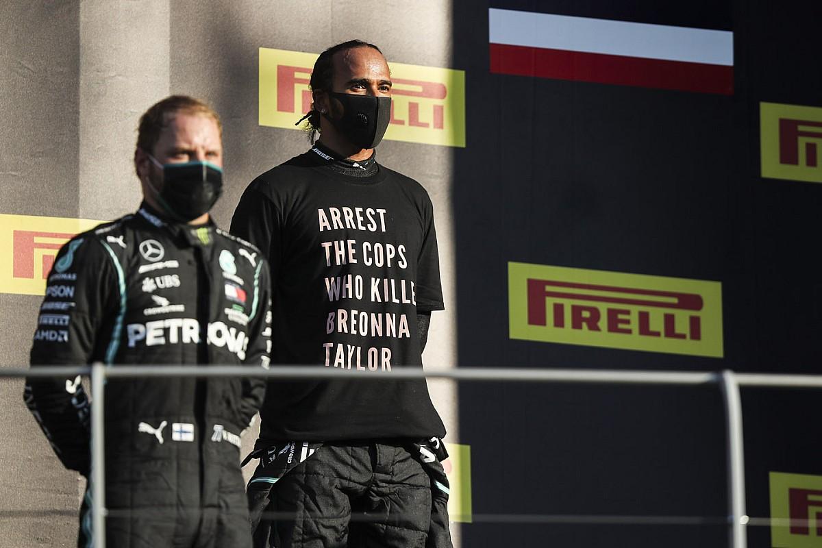 Regole del podio più rigide dopo la protesta di Hamilton