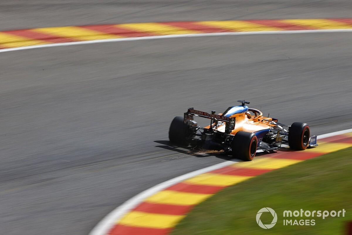 Sainz: McLaren kan het 'zwaar' krijgen bij natte race op Spa