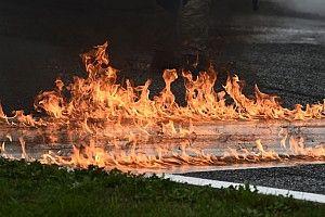 Фото: пожар на Гран При Штирии