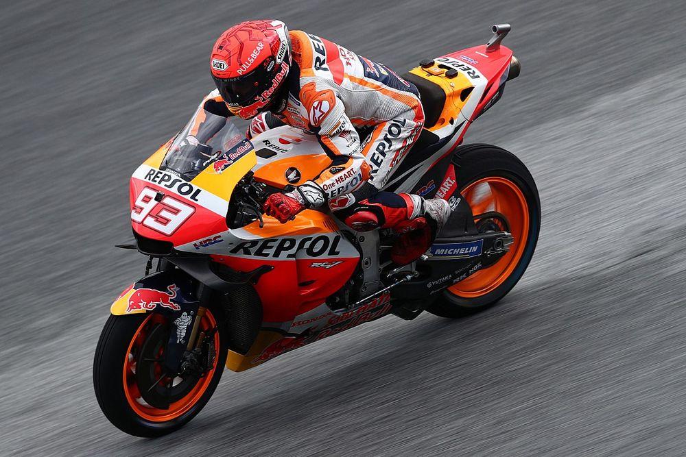 Marquez topt natte warm-up voor GP van Stiermarken