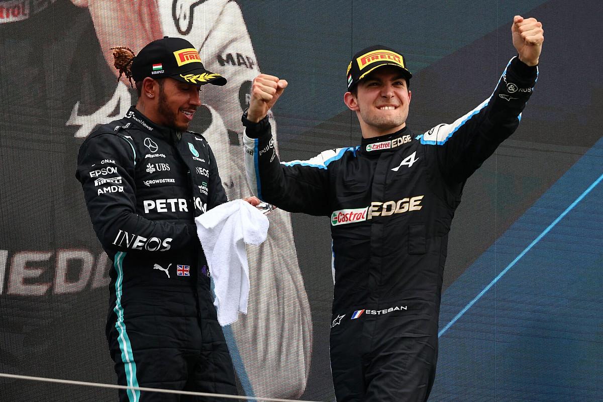 Ocon, Mercedes ve Hamilton'ın kuru zemin lastiğine geçmemesine şaşırmış