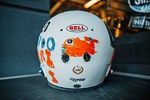 Fotos: así es el nuevo casco de Norris diseñado por una niña de 6 años