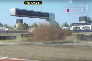 Leclerc no la pasó del todo bien en el World RX Esports