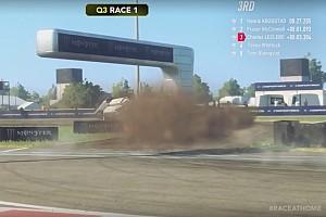 WRX virtual: Leclerc, protagonista con toques, trompos y vuelcos