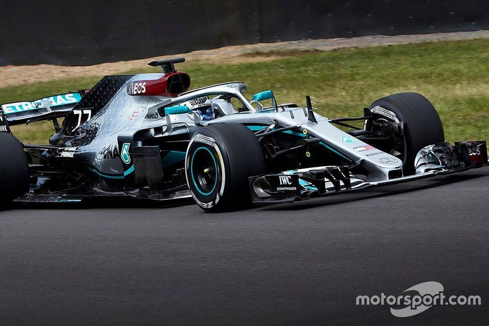 Mercedes: ecco Bottas a Silverstone con la W09 ricolorata
