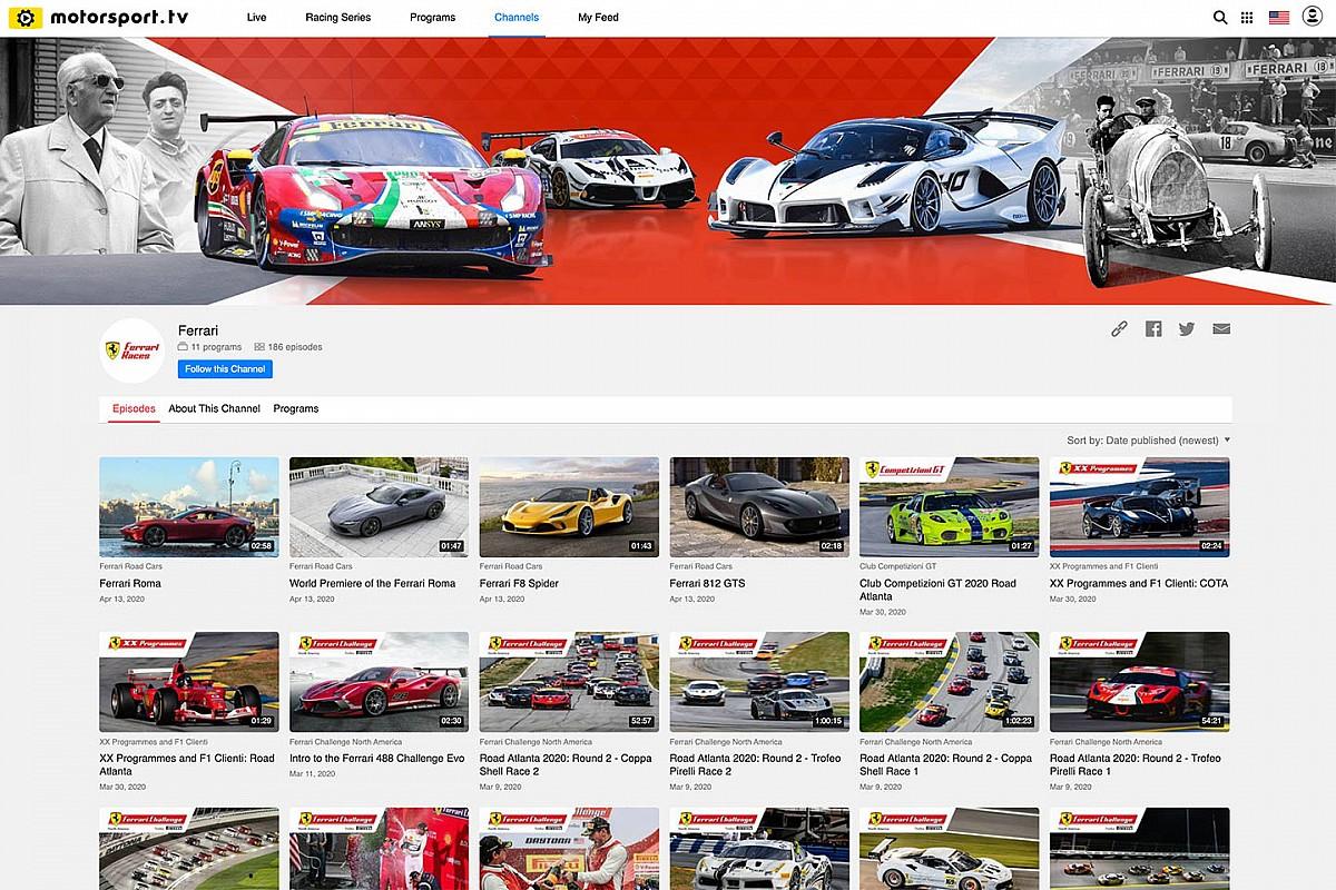 """شراكة تجمع بين فيراري وشبكة موتورسبورت لإنشاء قناة خاصة في """"موتورسبورت.تي في"""""""