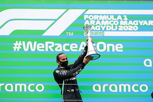 Hamilton domineert GP van Hongarije, Verstappen tweede na crash