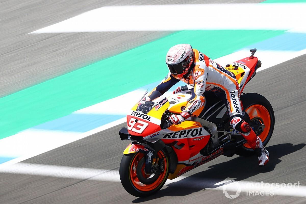 MotoGP, Jerez, Libere 4: Marquez di un soffio su Vinales