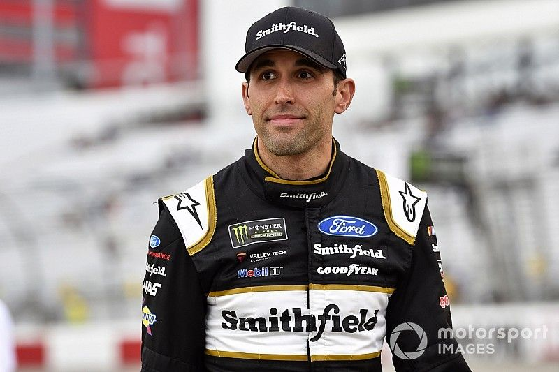 Aric Almirola tops Bowyer in first Cup practice at Kansas
