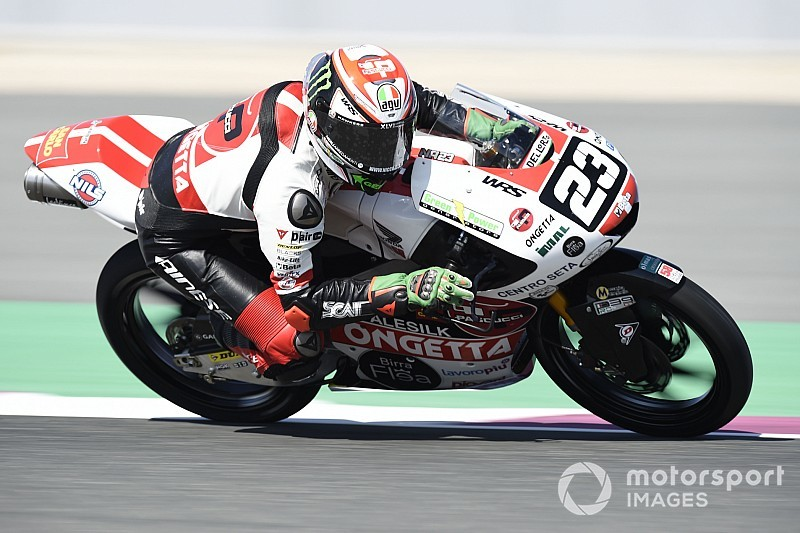 Moto3 Austin: Antonelli snelt naar pole in lastige omstandigheden