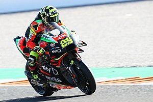 VÍDEO: Aprilia de Iannone pega fogo em teste da MotoGP em Valência