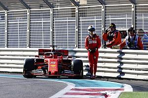 Így vágta neki a korlátnak a Ferrarit Vettel Abu Dhabiban (videó)