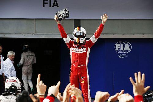 Vettel első győzelme a Ferrarival: 3 ponttal volt a listavezető Hamilton mögött