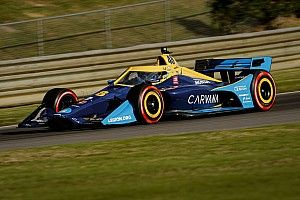 """Jimmie Johnson escapes """"scary moments"""" to finish on IndyCar debut"""