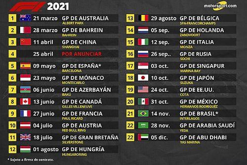 La Fórmula 1 confirma su calendario 2021