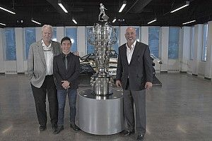 Sato unveils second image on Borg-Warner Trophy