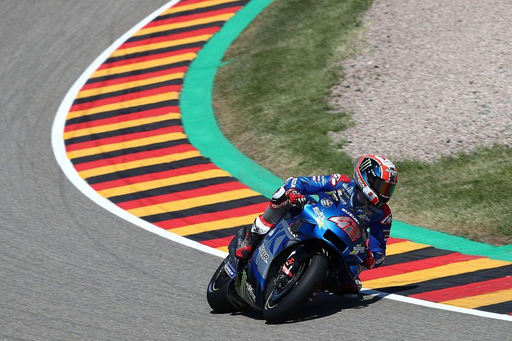 "Suzuki: Rins doing ""what we asked of him"" amid crash run"
