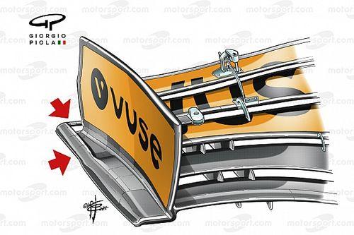 McLaren: c'è un soffiaggio nel marciapiede della paratia laterale