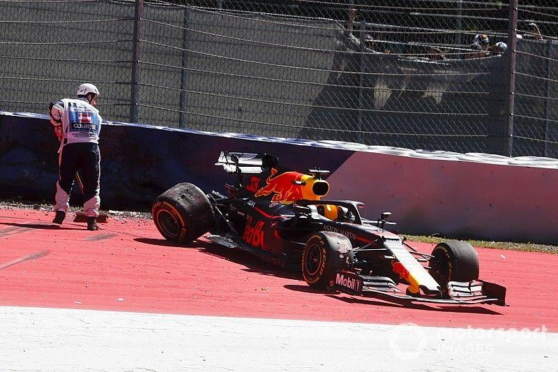 Verstappen culpa al viento por su accidente